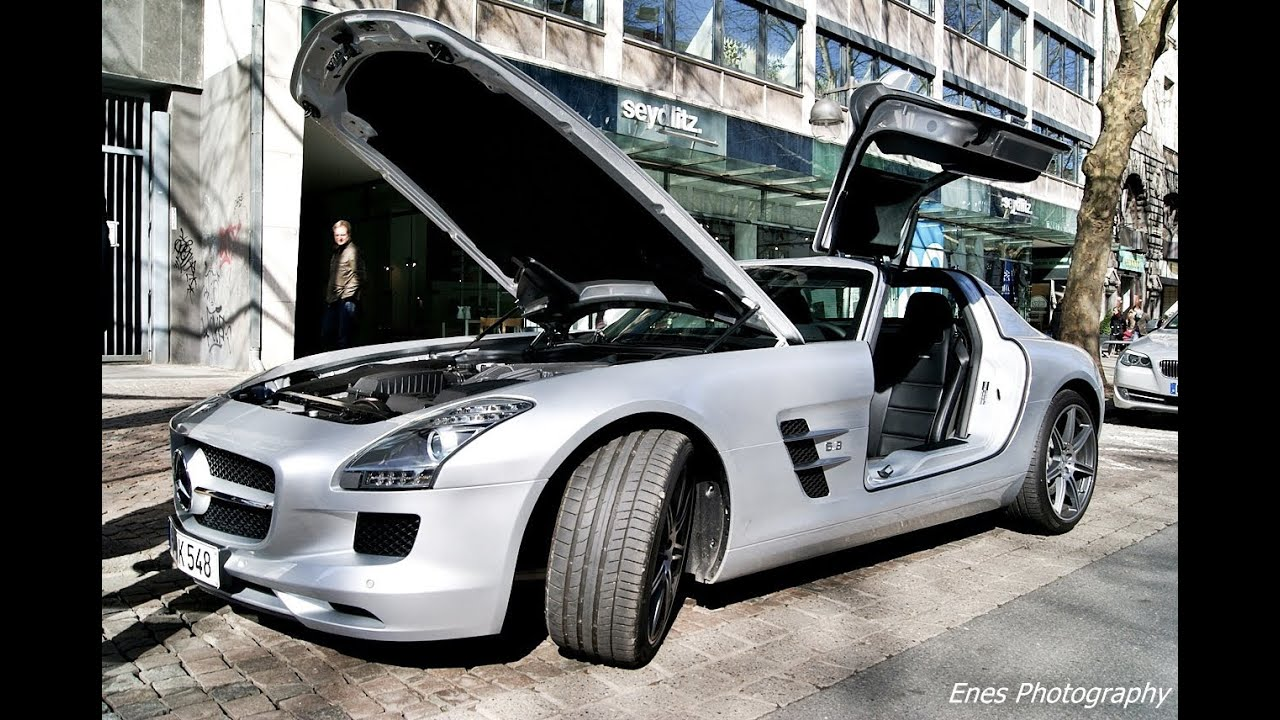mercedes benz sls amg with open doors youtube. Black Bedroom Furniture Sets. Home Design Ideas