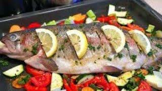 سمك في الفرن  morrocan baked fish recipe