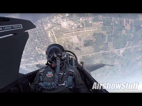 F-16 Cockpit Cam - Aerobatics and Heritage Flight w/P-51 Mus