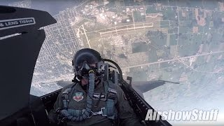 F-16 Cockpit Cam - Aerobatics and Heritage Flight w/P-51 Mustang - EAA AirVenture Oshkosh 2016