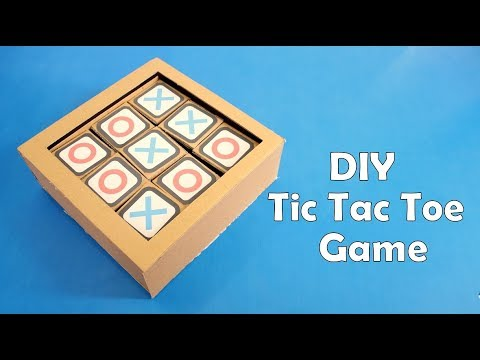 How to Make a Cardboard Tic Tac Toe Game at Home - DIY