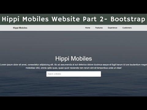 Hippi Mobiles Website Development Part 2 Using HTML , CSS , Bootstrap   Ui Brains   NAVEEN SAGGAM
