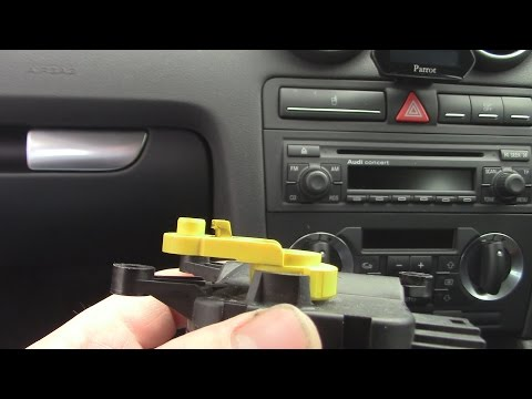Audi A3 1.9TDi Actuator motor replacement / Auxiliary heater access