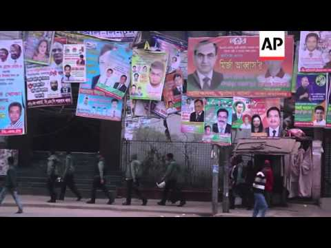 Ruling party leads election after vote marred by violence and opposition boycott