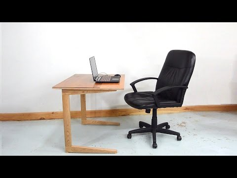Cantilevered work table