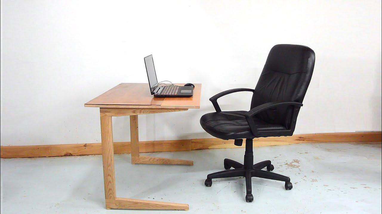 Cantilevered Work Table   YouTube