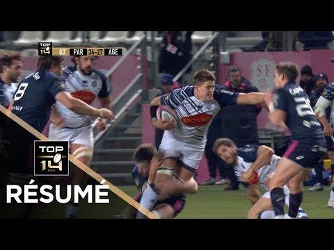 TOP 14 - Résumé Paris-Agen: 34-36 - J18 - Saison 2017/2018