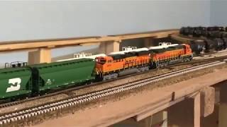 Layout Update Number 10 And Scale Trains C44-9W Debut.