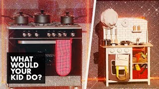 New Cooker OR a Kids Play Kitchen | What Would Your Kid Do?