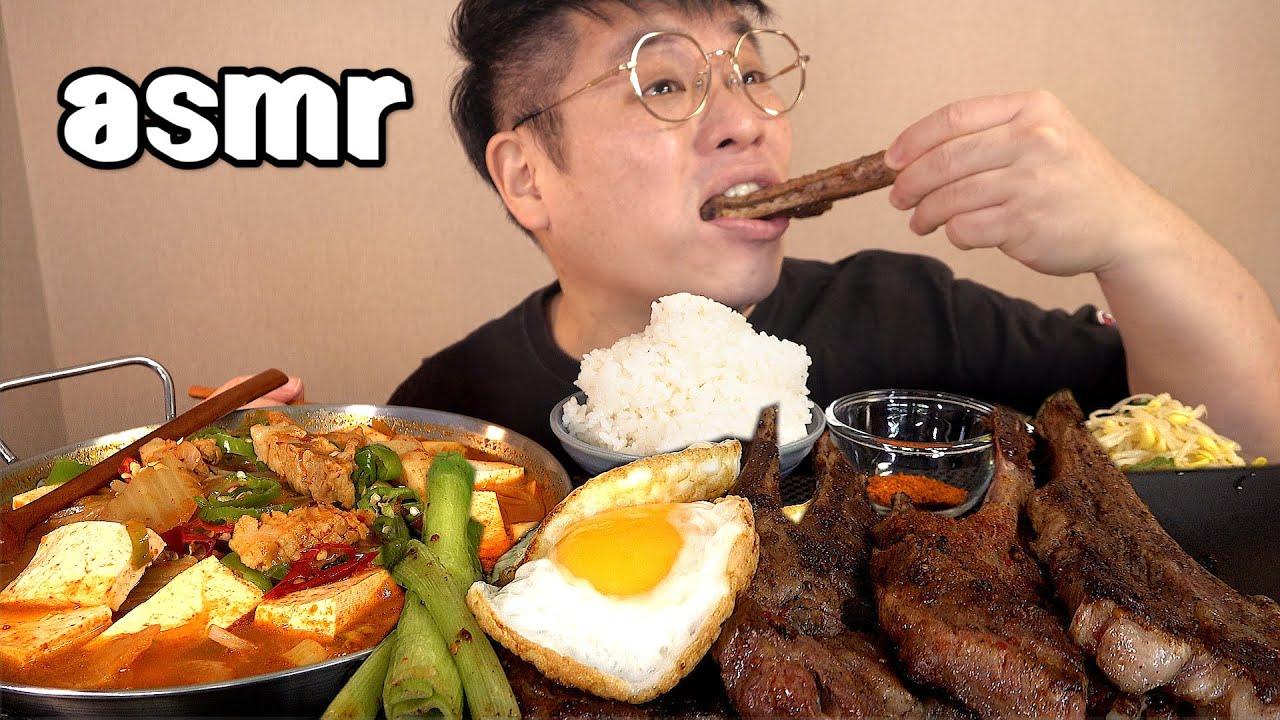 먹방창배tv 양갈비엔 김치찌개 이조합도은근좋다 맛사운드 레전드 yang galbi Lamb Chop kimchi stew jjigae mukbang Legend koreanfood