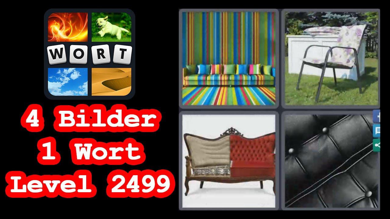 4 Bilder 1 Wort Level 2499 Buntes Sofa Stuhl Lösung Youtube