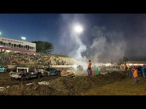 Lakeside Speedway, KCK, 2018 demo derby