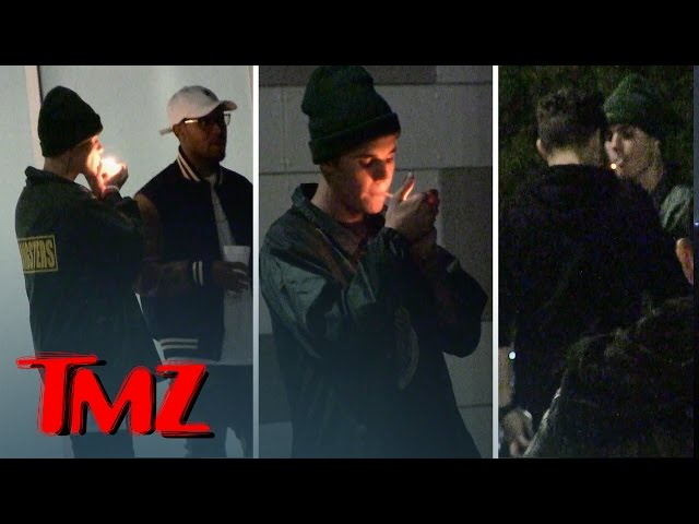 Justin Bieber — Smokin' Like a Chimney at Kendall's Party