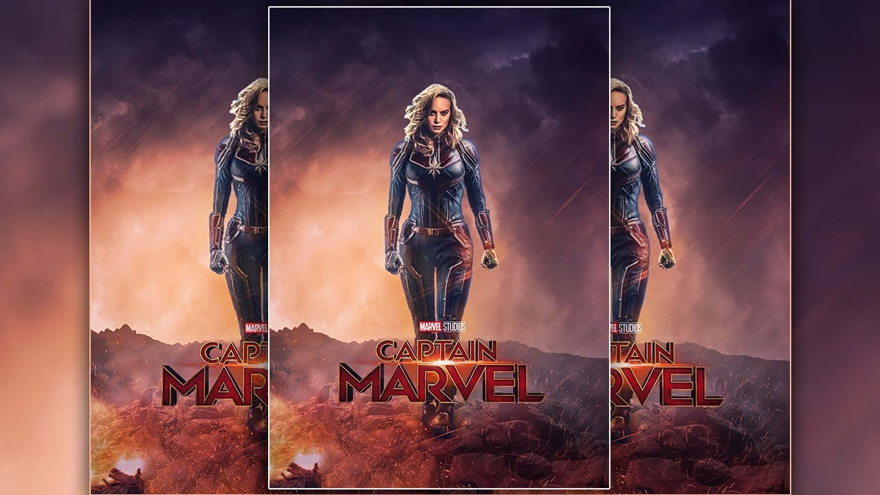 Movie Poster 2019: Captain Marvel Movie Poster Design In Photoshop CC 2019
