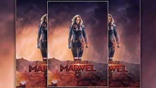 Captain Marvel Movie Poster Design In Photoshop CC 2019
