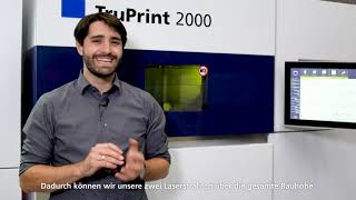 TRUMPF: Ask the Expert – TruPrint 2000 Automatic Multilaser Alignment