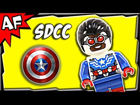 Lego All New CAPTAIN AMERICA Sam Wilson Exclusive SDCC 2015 Marvel Minifigure Review