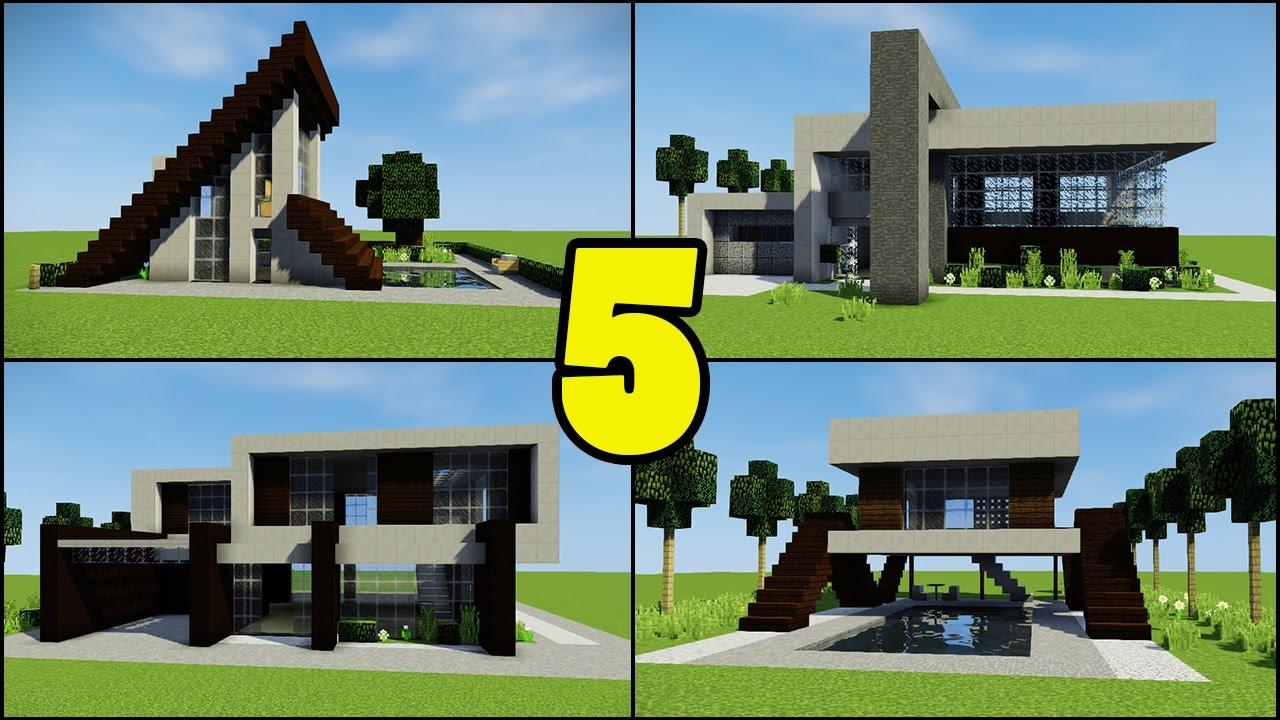 Minecraft Creative Tips Tricks: Top 5 Beginner Modern Houses For Minecraft Builders