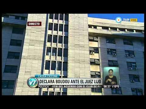 Visión 7 - Causa Ciccone: Boudou declara ante el juez Lijo (1)