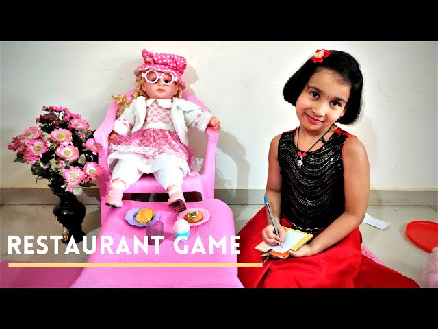 Restaurant game in Hindi | Restaurant pretend play | Hotel Game | LearnWithPari