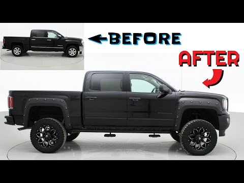 GMC Sierra Leveling Kit Before and After Before   After  2017 GMC Sierra 1500 SLT   Custom Lifted Trucks   ridetime