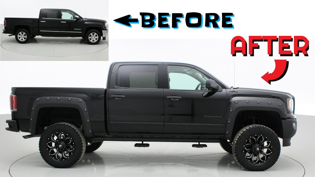 4 Inch Leveling Kit >> Before & After: 2017 GMC Sierra 1500 SLT | Custom Lifted Trucks | ridetime.ca - YouTube