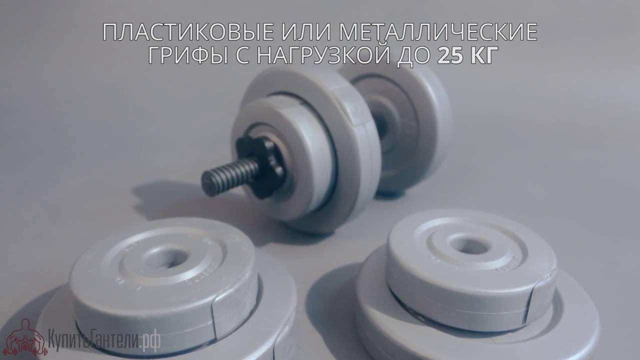 Видео обзор гантелей Active Body 2 х 20 кг, тест на прочность .