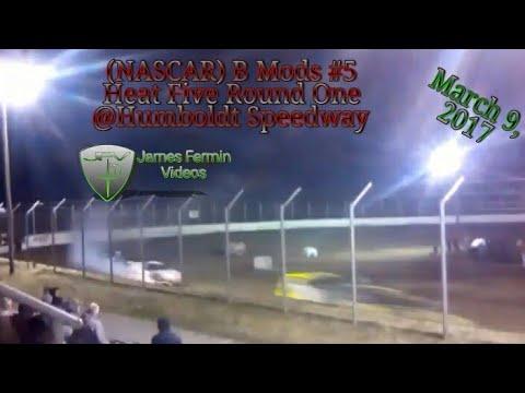 B Mod #5, Round 1 Heat 5, Thursday Night, Humboldt Speedway, 2017