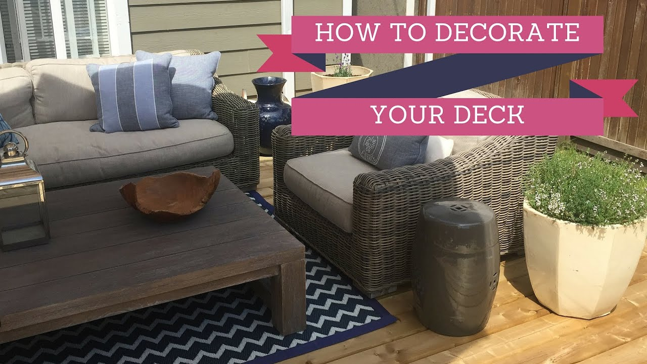 Deck Decorating Ideas 2016 - YouTube