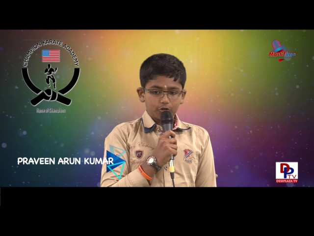 "Praveen Arun Kumar speaking about ""Nature"" in Talking Bee - Public Speaking competitions 2016"