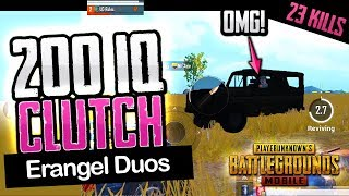INSANE 200 IQ CLUTCH - PUBG Mobile Duos - 23 KILLS