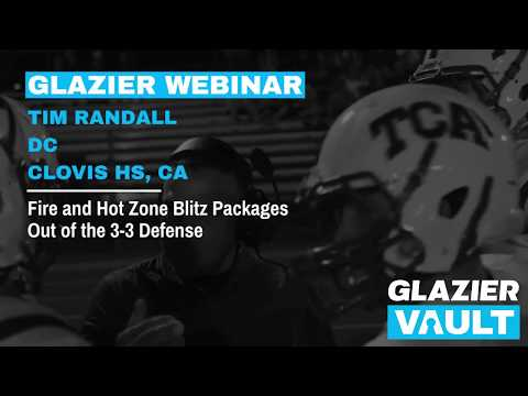 Fire and Hot Zone Blitz Packages Out of the 3-3 Defense - Tim Randall