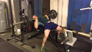 Close Grip Incline Bench - 185lbs x 6 pause reps