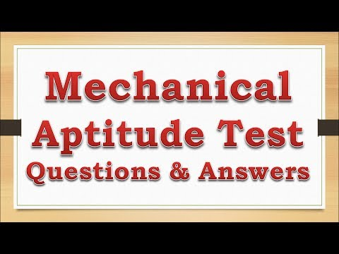 Free Mechanical Aptitude Test Sample Questions