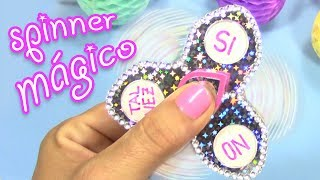 DIY HOW TO MAKE A MAGICAL FIDGET SPINNER - Ask the magical spinner !!