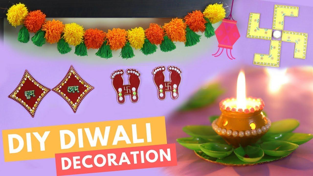 DIY: 5 Best Diwali Room Decoration Ideas | #DIYWithDhwani ...