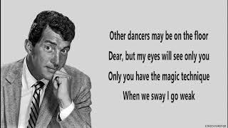SWAY - Dean Martin 🎺 (Lyrics)
