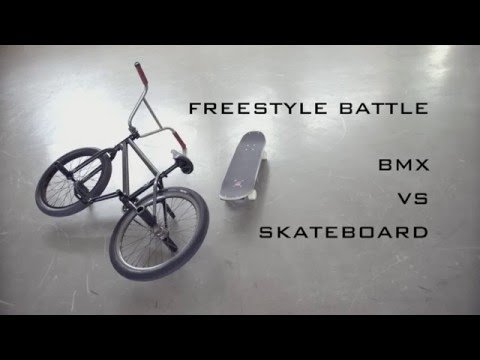 Skateboard Vs BMX Freestyle Battle
