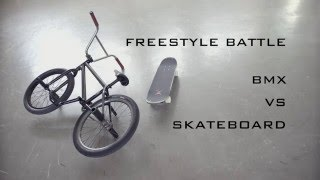 Skateboard Vs BMX Freestyle Battle