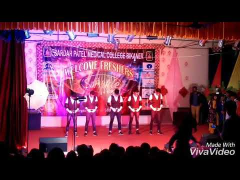 MJ 5 dance , Saat Samundar Paar, fresher party at spmc bikaner