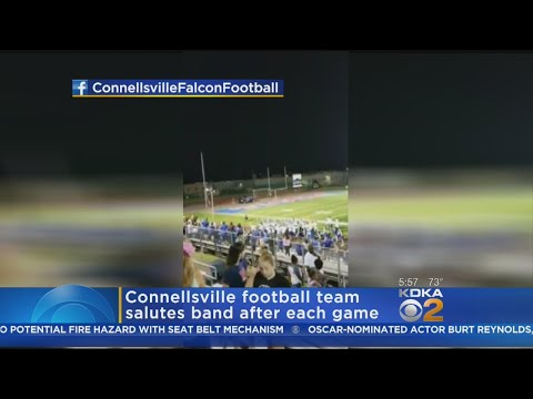 Connellsville Football Team Starts New Tradition Of Saluting Band After Games