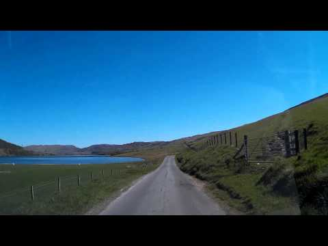Driving Through The Highlands Of Scotland