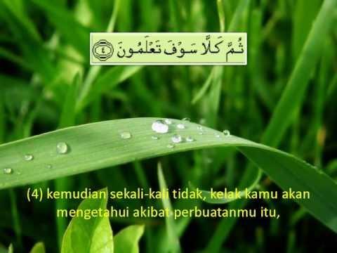 102. Surah At Takathur - Terjemahan (Audio)