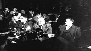 Johannes (Hanns) Eisler appears before a Subcommittee of the House Un-American Ac...HD Stock Footage