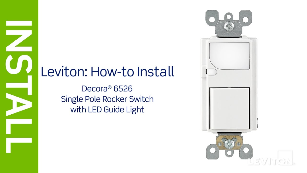 leviton presents how to install an led guidelight with single pole cooper switch wiring diagram with night light [ 1280 x 720 Pixel ]