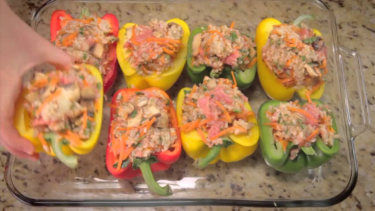 How To Make Easy Chicken Stuffed Peppers