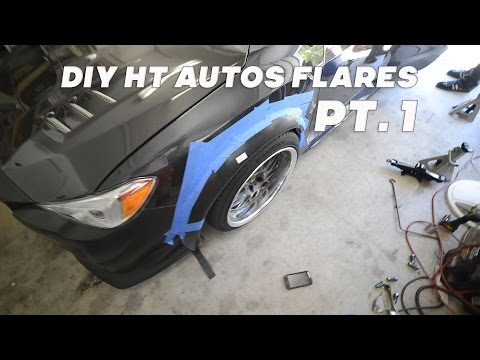 how to make custom fender flares