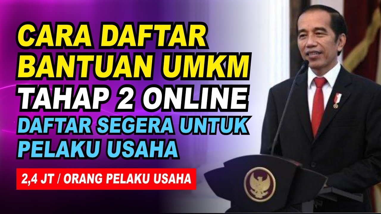Cara Daftar Umkm 2020 Online Youtube