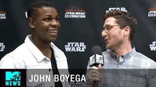 What Does John Boyega Think About Finn/Poe Fanfiction? | MTV News