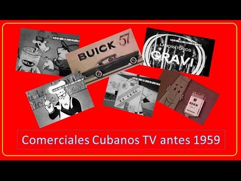 Comerciales dela TV cubana antes del 1959